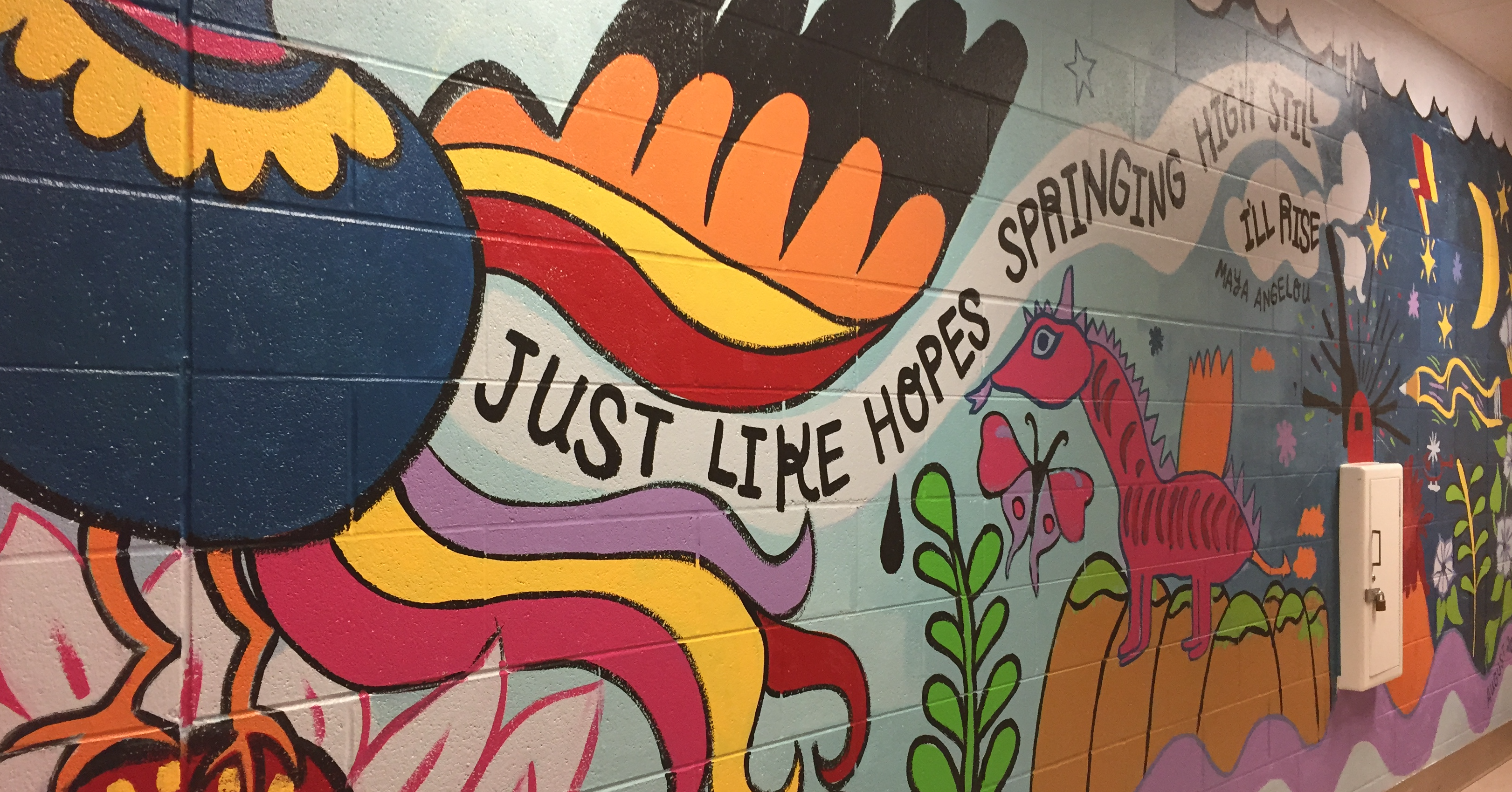 "Madison Public Library's Bubbler Making Justice ""Rise"" mural residency with Lesley Anne Numbers"