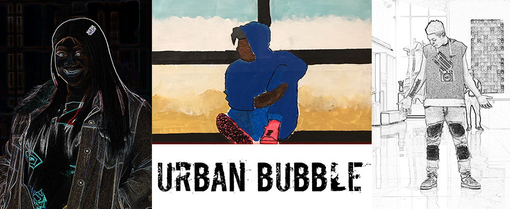 Madison Public Library's Bubbler Making Justice Fauhaus teen art exhibition URBAN BUBBLE