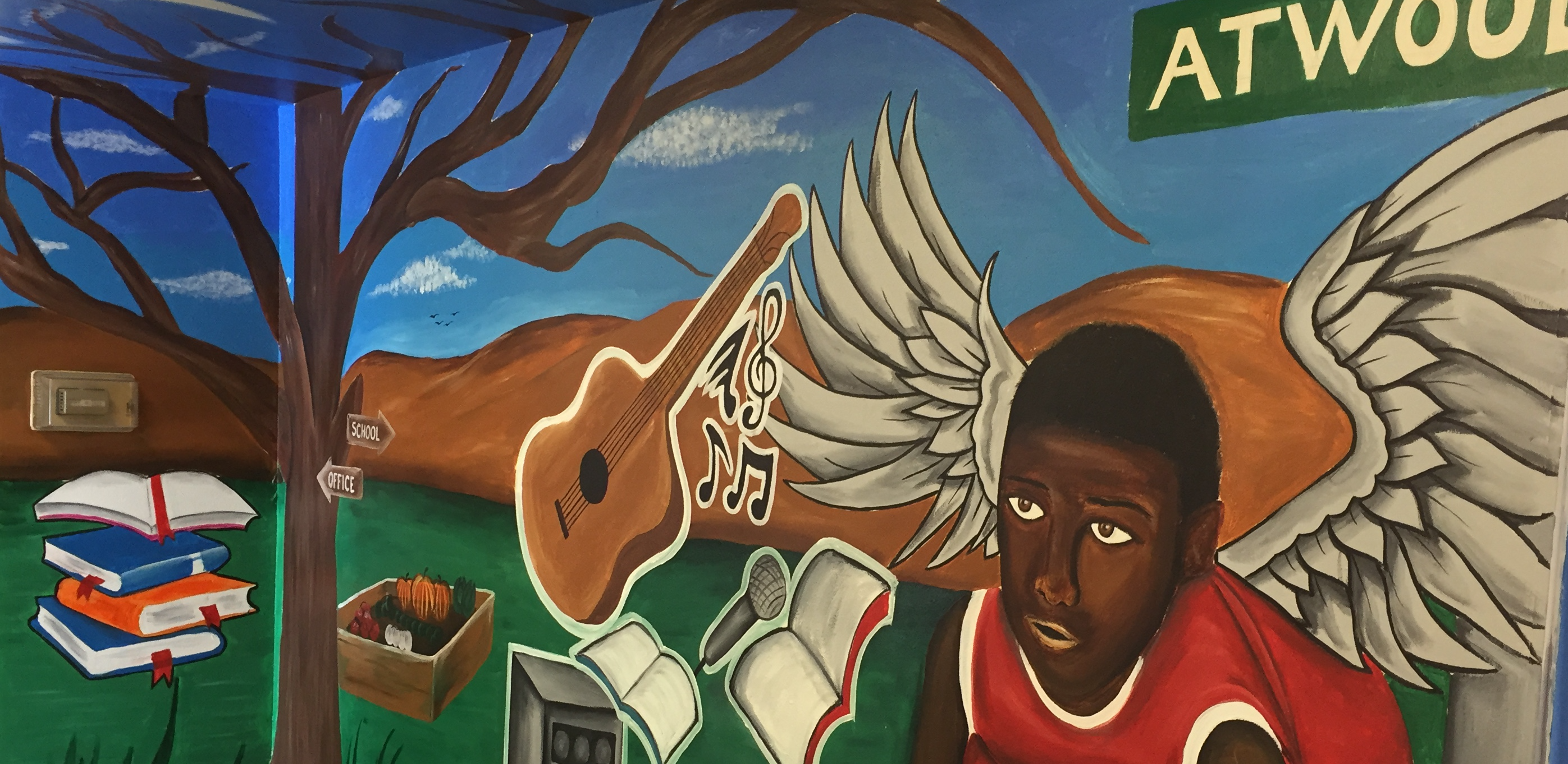 "Madison Public Library's Bubbler Making Justice ""Welcome"" mural residency with Rodrigo Carapia"