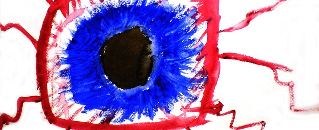 Illustration bloodshot eye