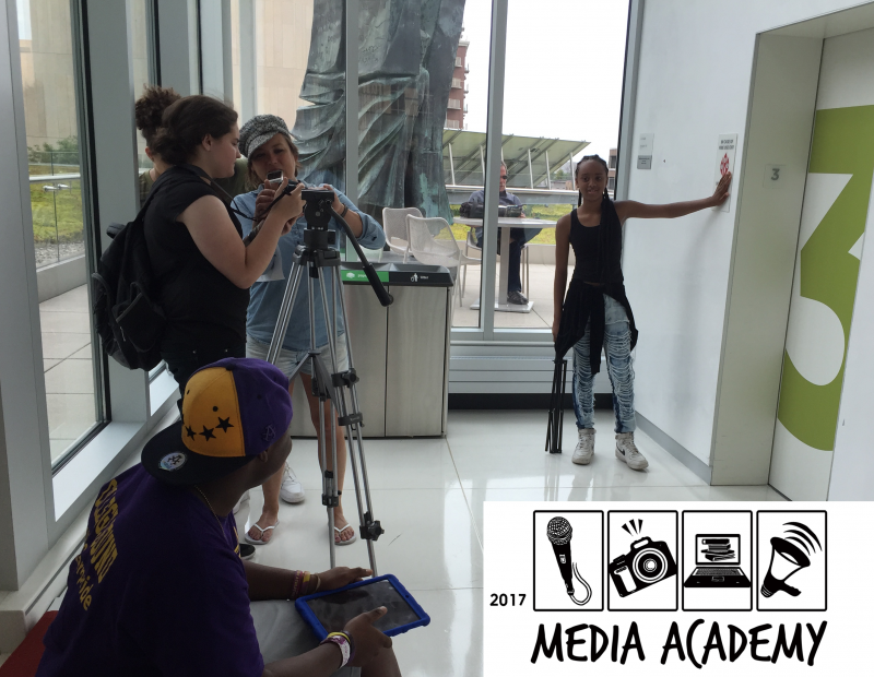 Picture of music video shoot for 2017 Media Academy