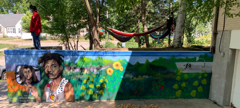 Madison Public Library's Bubbler Making Justice mural residency at Juvenile Court Shelter Home