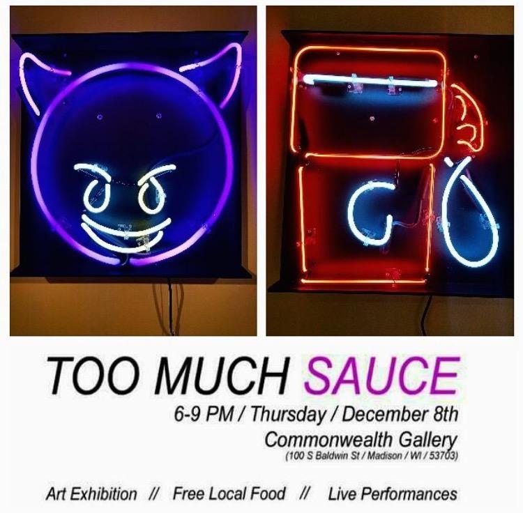 Too Much Sauce teen art exhibit