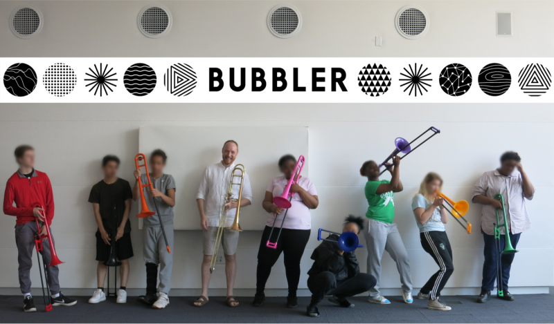 Bubbler Making Justice trombone workshop with Will Porter