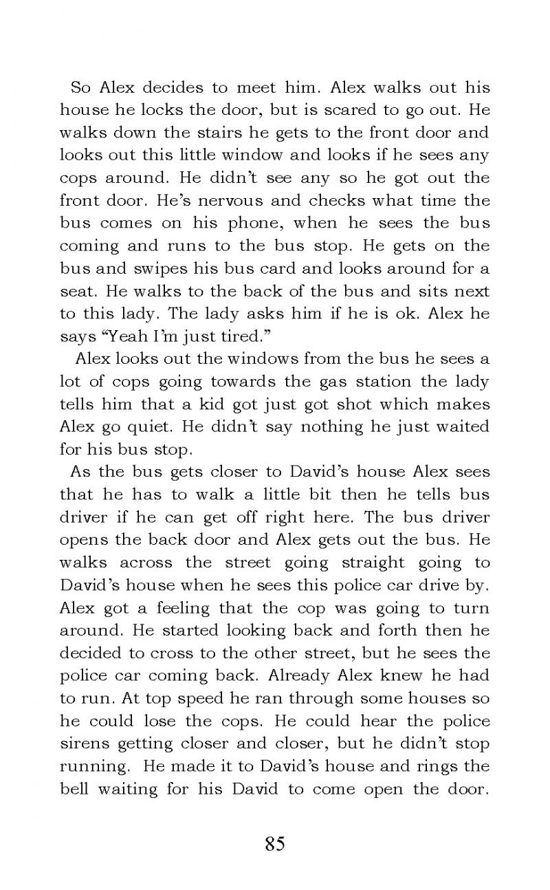 """Life of a 15 Year Old Fugitive"" short story"