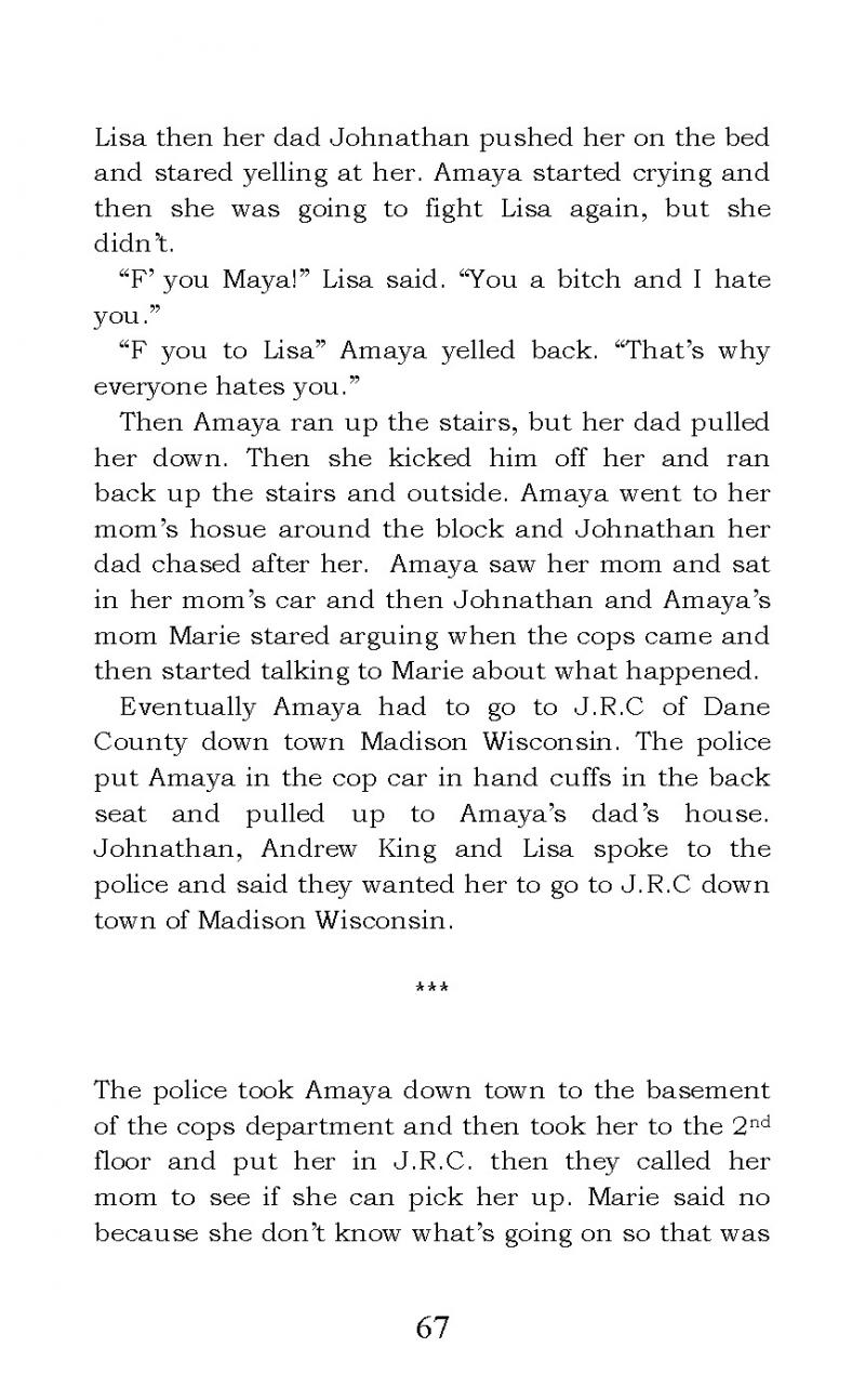 """The Story of Amaya Bleu"" short story"