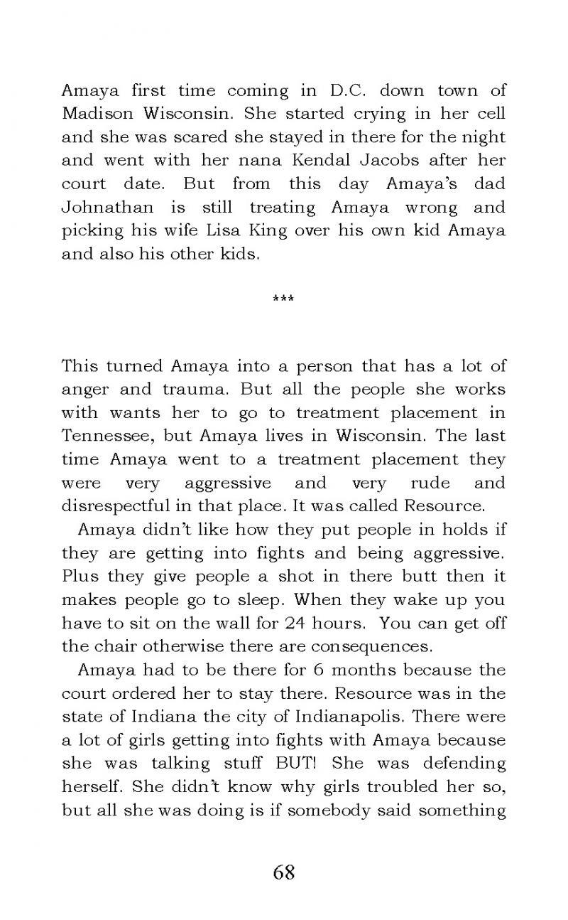 """The Story of Amaya Bleu"" short story"
