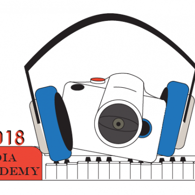 New Media Academy logo designed by Summer 2018 teenage participants.