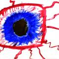 Illustration bloodshot eye
