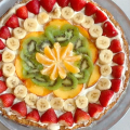 teens make fruit pizza