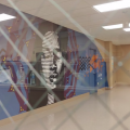 """Madison Public Library's Bubbler Making Justice """"Look Within"""" mural residency with Audifax"""