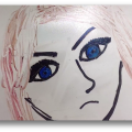 Picture of hand drawn face