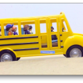"""Picture of toy bus in animated scene from """"Eleanor & Park"""" book"""