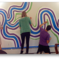 Madison Public Library Bubbler Making Justice Mural Residency with Carlos Gacharna