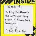 handwritten administrator reflection from Ed Pearson, juvenile detention center superintendent